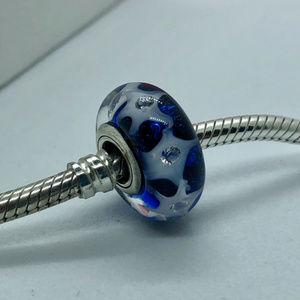 PANDORA Starry Sky Glass Murano Bead, New!